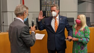 Mike Burke is sworn-in as superintendent of the School District of Palm Beach County on Oct. 20, 2021.jpg
