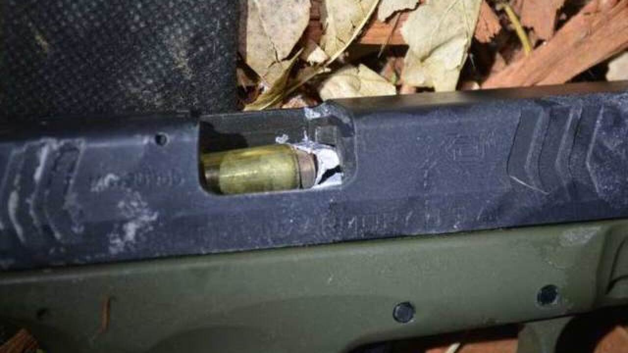 "Deputy under fire shoots bullet into suspect's gun -- being called ""one in a billion"" shot"