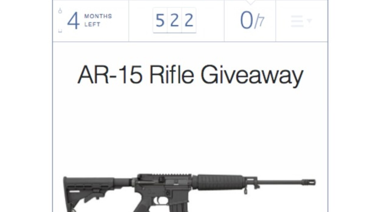 Kansas candidate for Congress won't stop AR-15 raffle