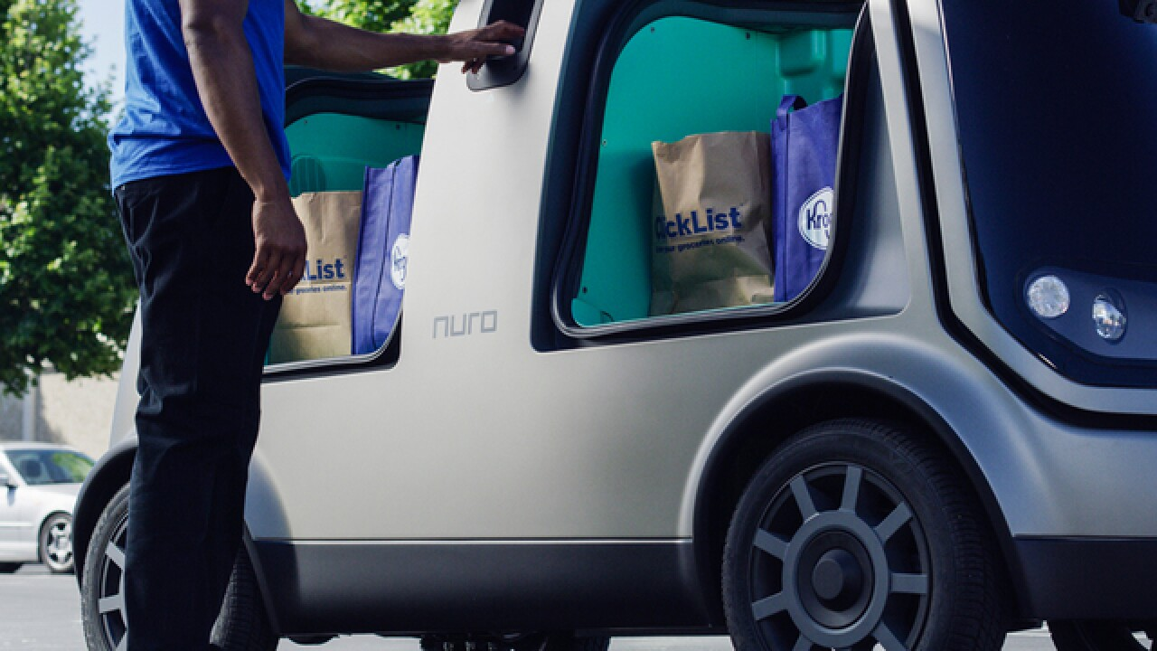 Kroger to experiment with grocery delivery via self-driving cars