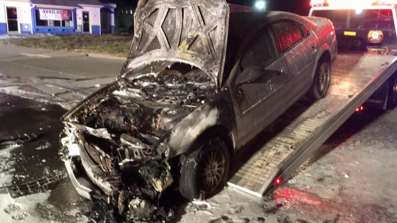 PD: Man arrested after fiery Blue Ash crash