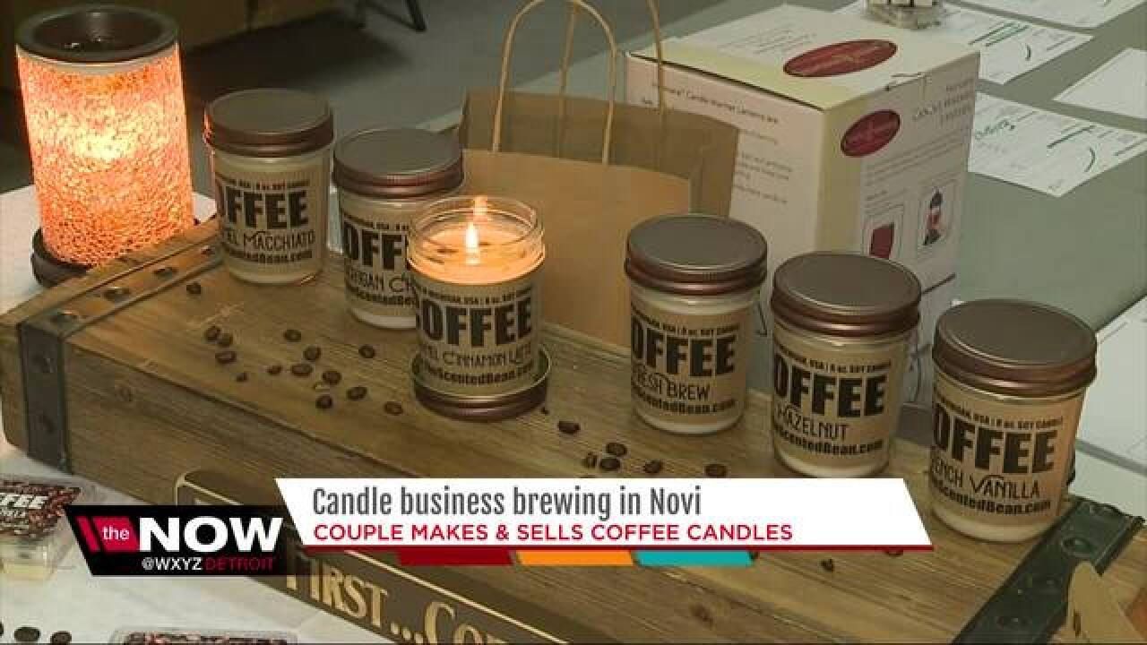 Coffee candle business brewing in Novi