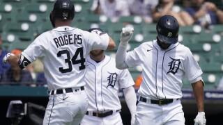 Jake Rogers, Willi Castro Mariners Tigers Baseball