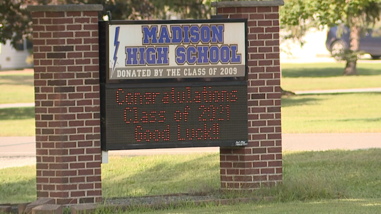 More than 250 Madison High School students quarantining after 2 positive cases; school closed Friday