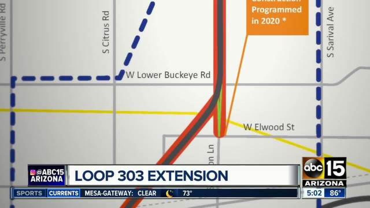 Map Of Loop 303 Arizona.Adot Asking Public To Weigh In On Loop 303 Extension In West