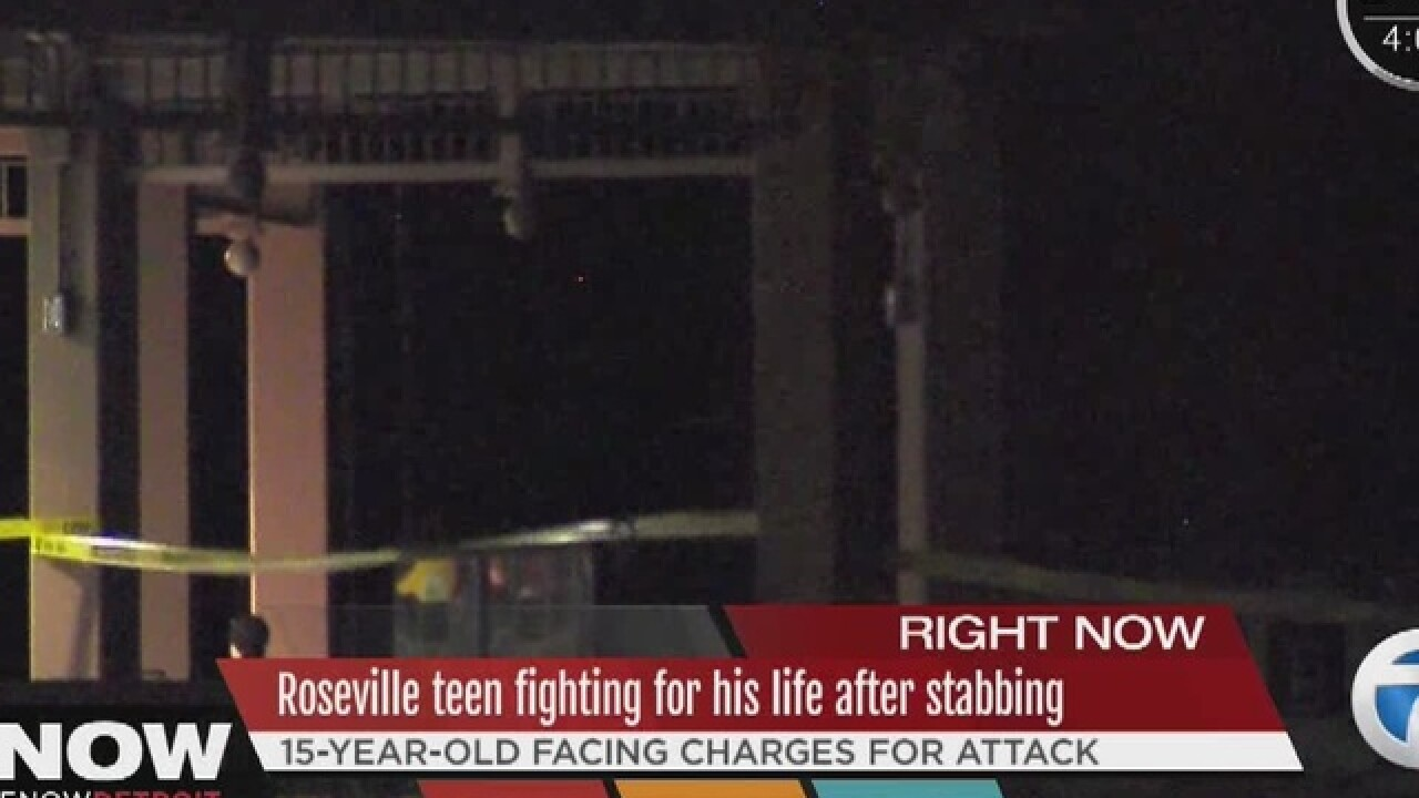 Teen stabbed during a fight in Roseville