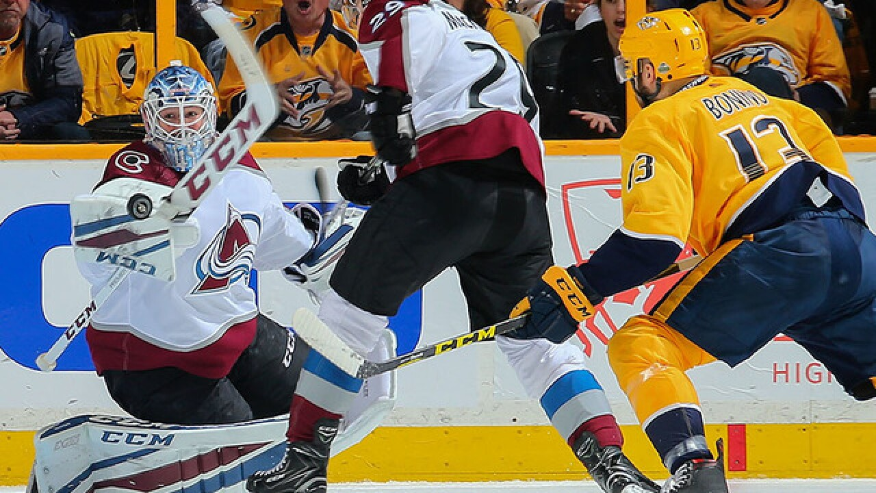 Predators take 2-0 lead after holding off Avalanche 5-4
