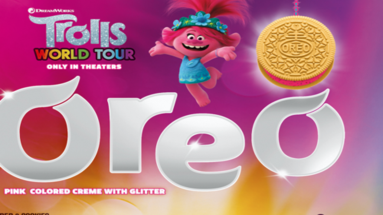 You Can Now Buy New 'Trolls' Oreos With Glittery Pink Or Green Creme