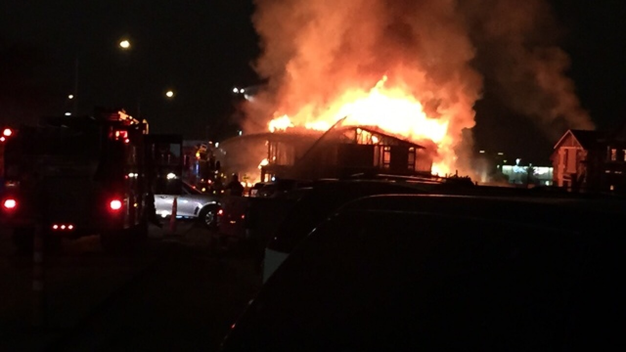Large fire at construction project on west side
