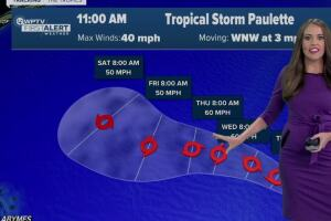 Tropical Storm Paulette forms in the Atlantic