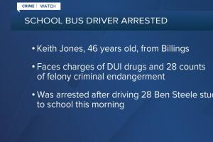 Billings school bus driver arrested on suspicion of DUI while taking kids to school