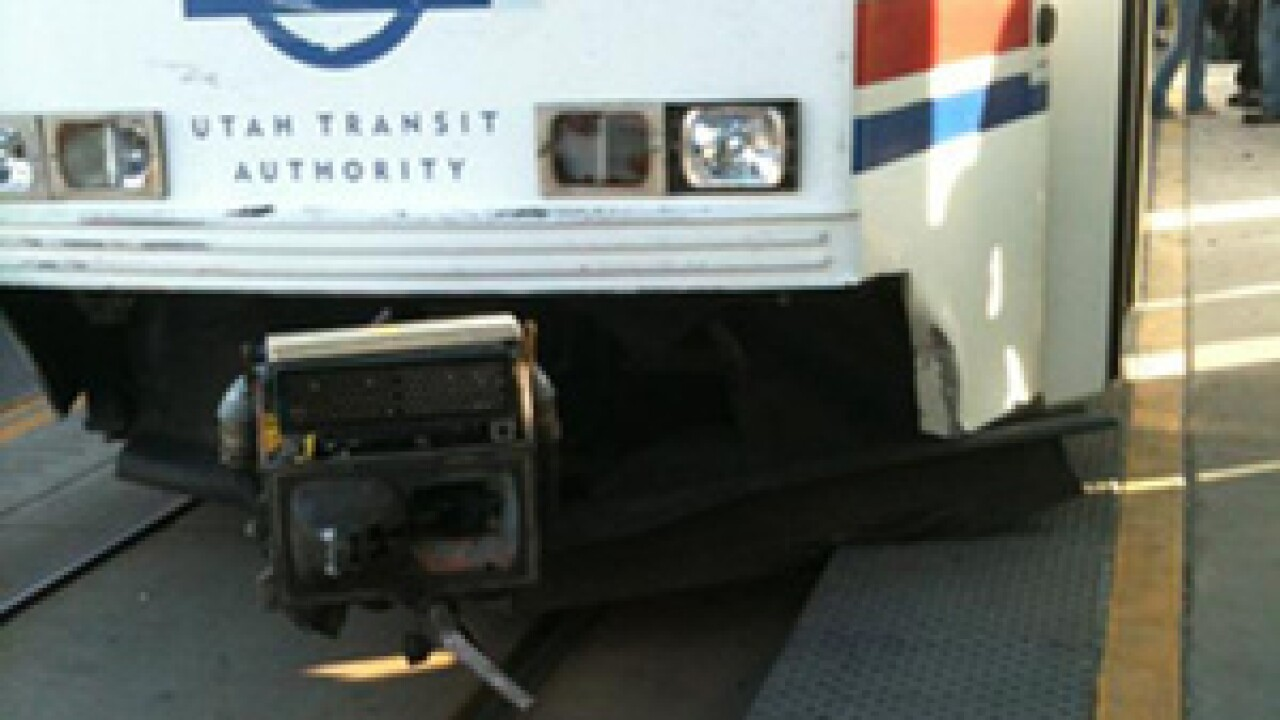 TRAX train derailed after colliding with truck; no serious injuries
