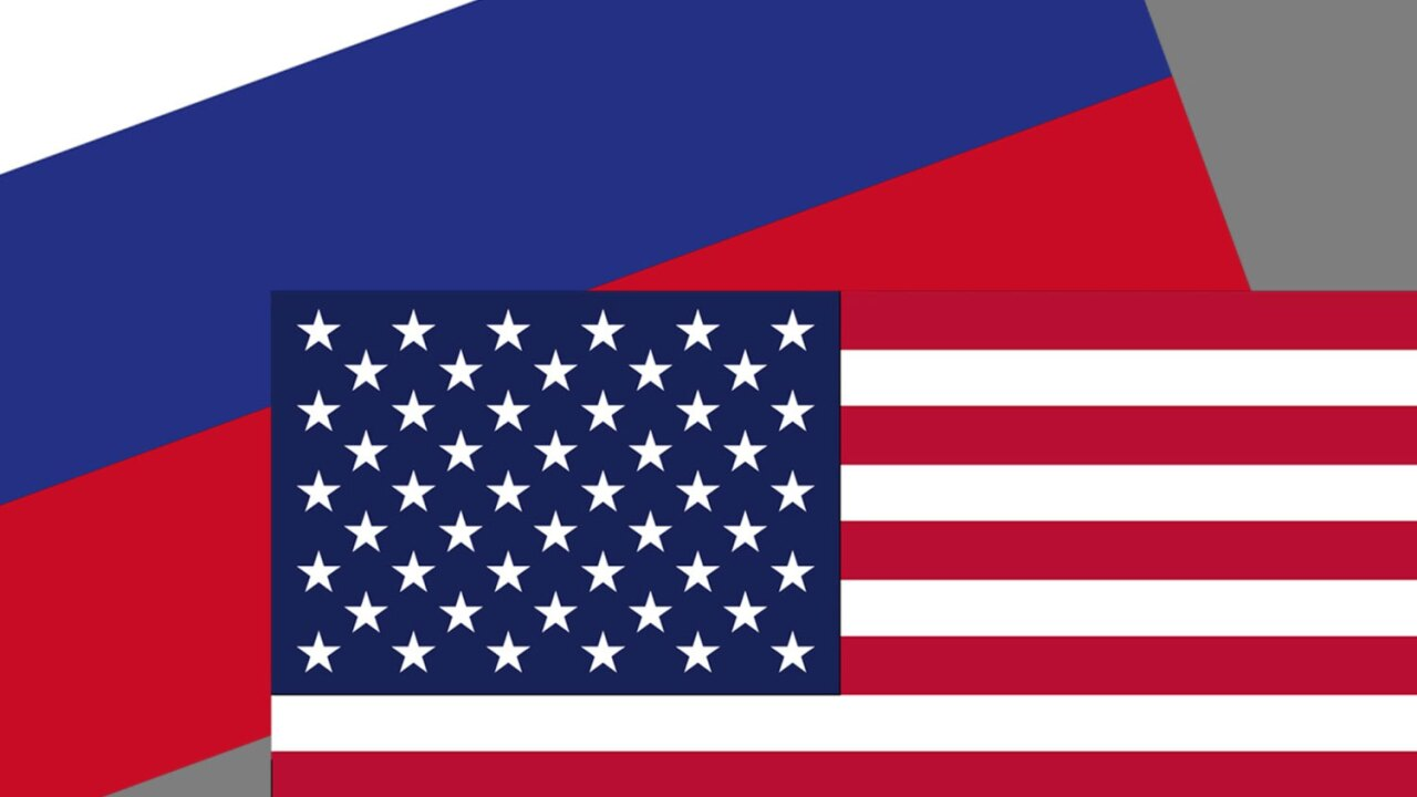 Flags of Russia and the United States of America