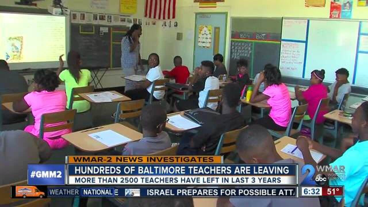 Hundreds of teachers are quitting at...