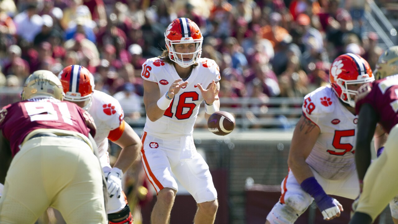 Clemson Tigers QB Trevor Lawrence vs. Florida State Seminoles in 2018