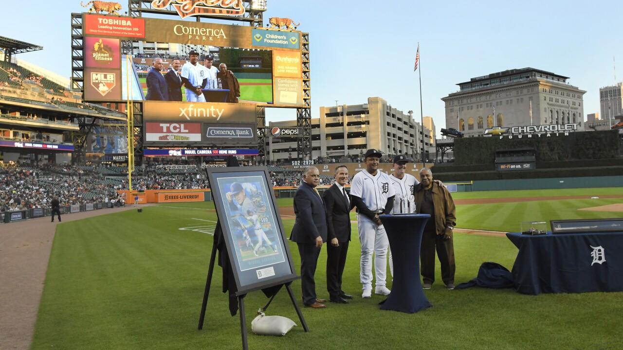Al Avila, Christopher Ilitch, Miguel Cabrera, A.J. Hinch, Willie Horton Tigers Baseball