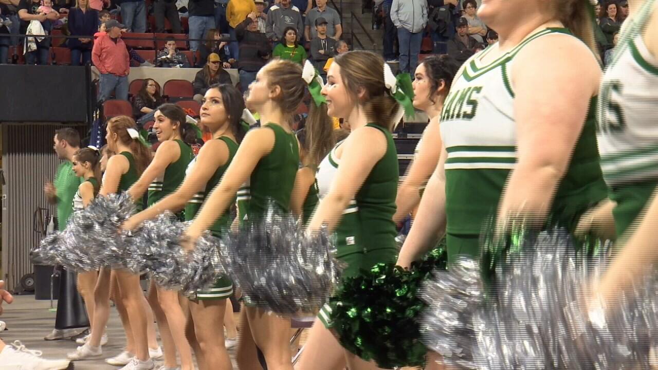 Billings Central cheerleaders