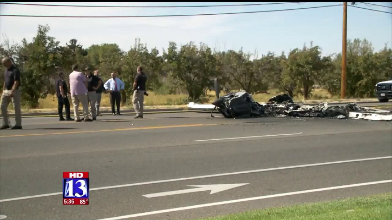Pilot and driver recovering from minor injuries after airplane hits car inRoy
