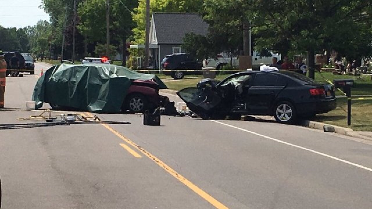 70-year-old woman dies after two-car accident