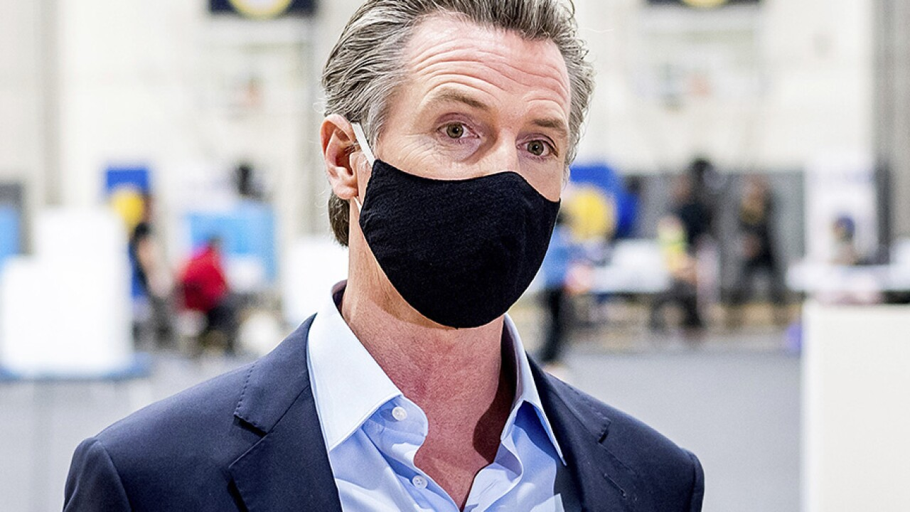 Gov. Gavin Newsom mask