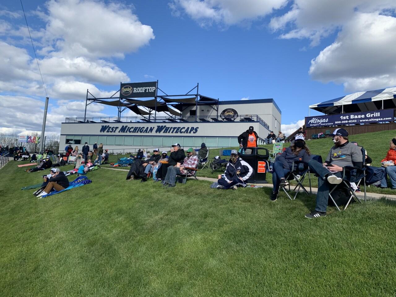 Whitecaps fans enjoy the lawn