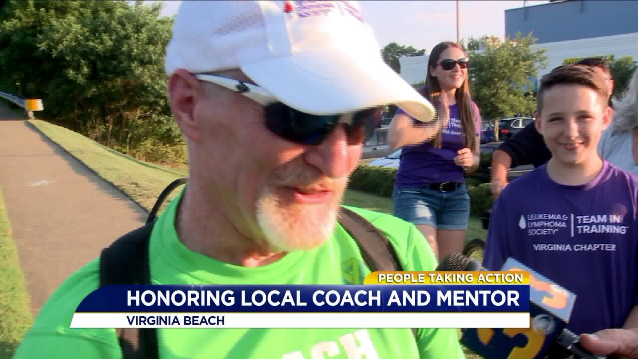 People Taking Action: Virginia Beach man has the spark that fuels marathoners to run forcharity