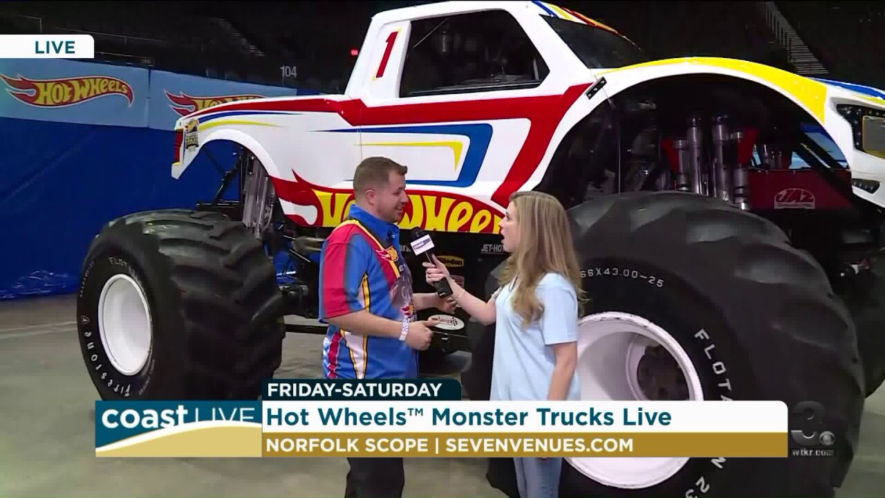 A preview of the Hot Wheels Monster Truck Show live on CoastLive