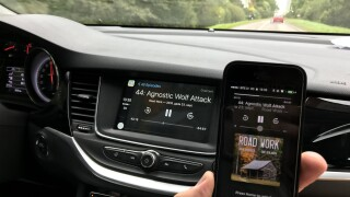 Apple CarPlay connected to phone