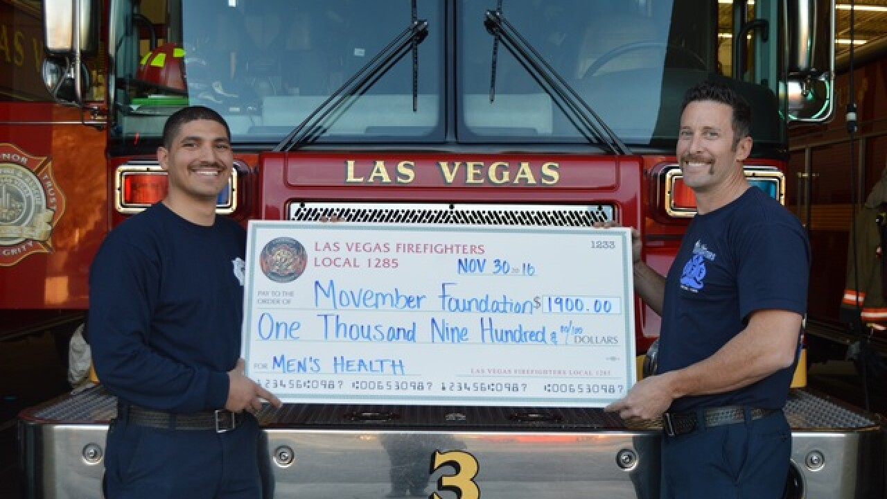 Las Vegas Firefighters make Movember donation