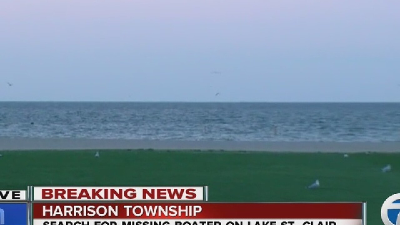 Search on for missing boater in Lake St. Clair
