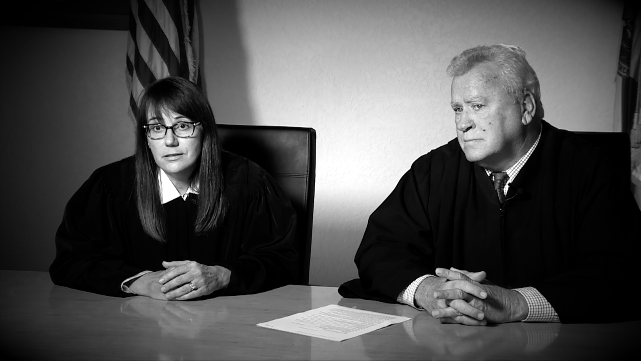 Judges Bruce Smith and Michelle Pincket of the 10th Judicial Circuit