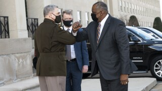 Defense Secretary Austin Arrives at Pentagon
