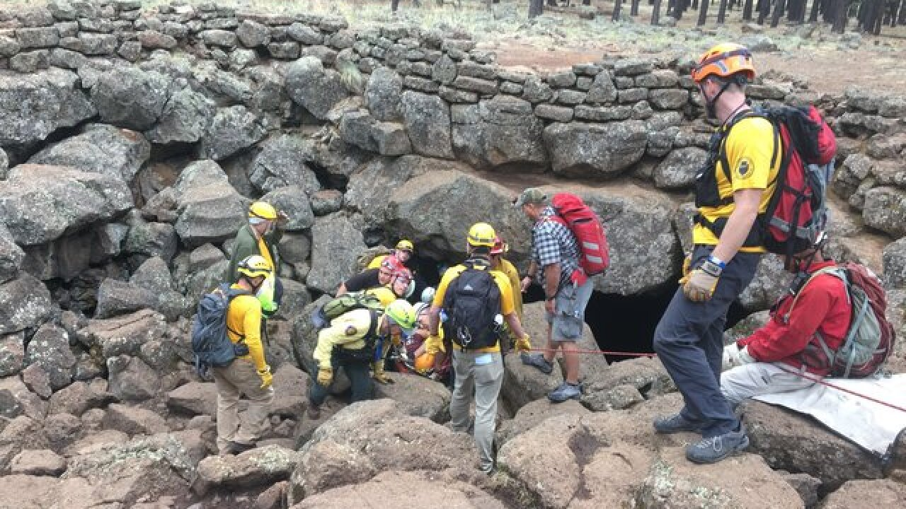 Injured hiker rescued from cave in northern AZ