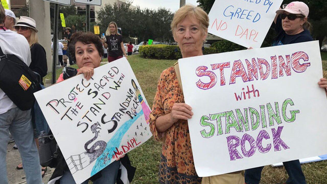 Pipeline protest in Palm Beach Gardens