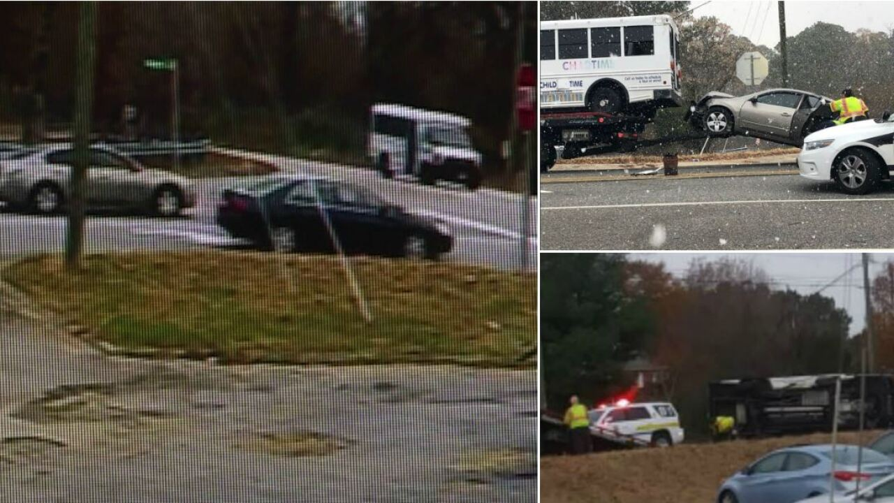 Video shows Chesterfield driver run stop sign, collide with daycarebus