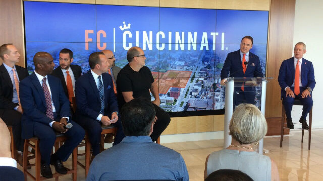 FC Cincinnati says it's 'starting over' with design for its Major League Soccer stadium