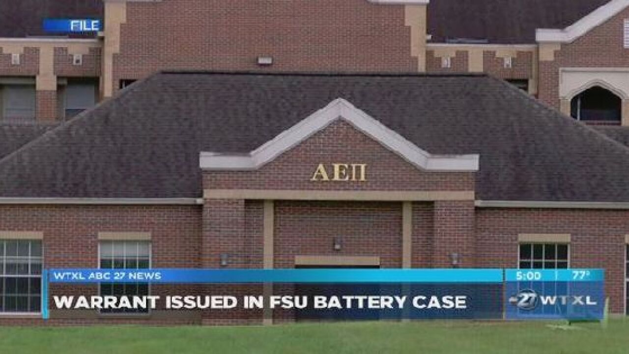 Man charged in battery incident at suspended FSU fraternity's house