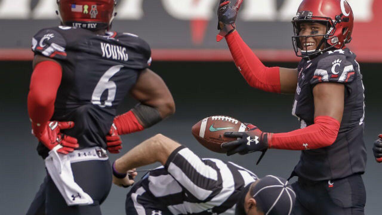 UC Bearcats football team moves up in weekly AAC power ... |Cincinnati Bearcats