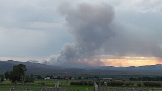 Wildfire burning 3 miles northeast of Bannack