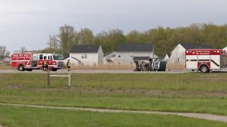 I-90 truck overturned Avon
