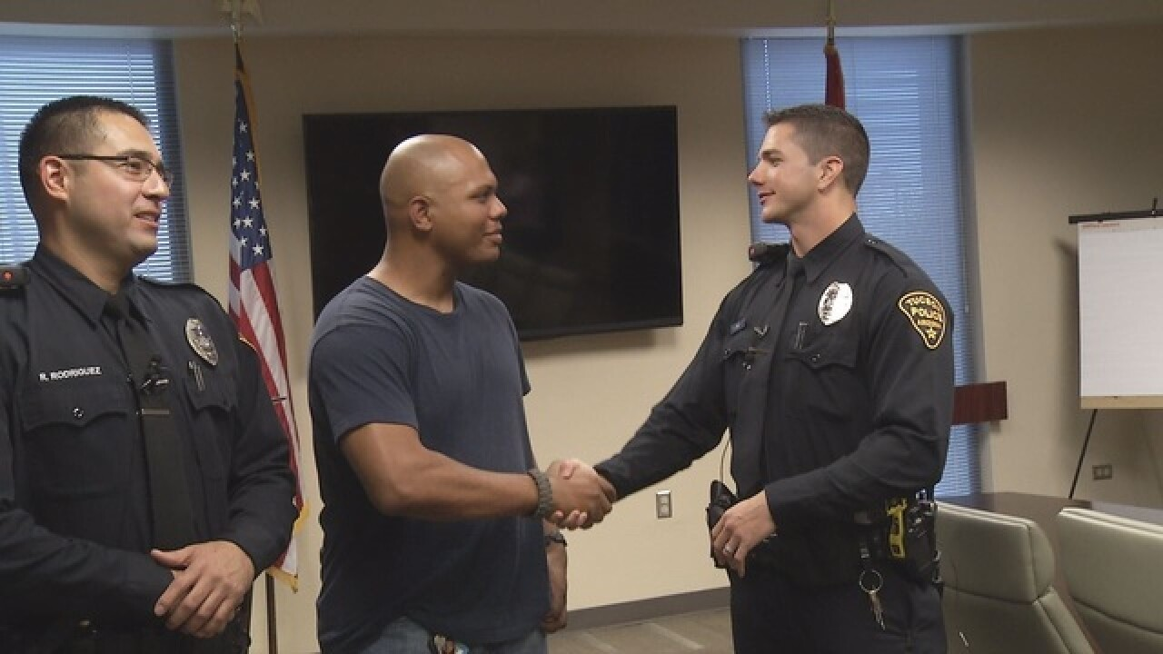 Man reunited with officers after FB viral post