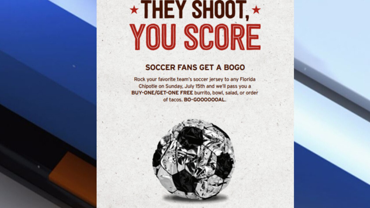 34c5d60b0 Soccer fans, lettuce taco-bout this BOGO Chipotle deal just for you