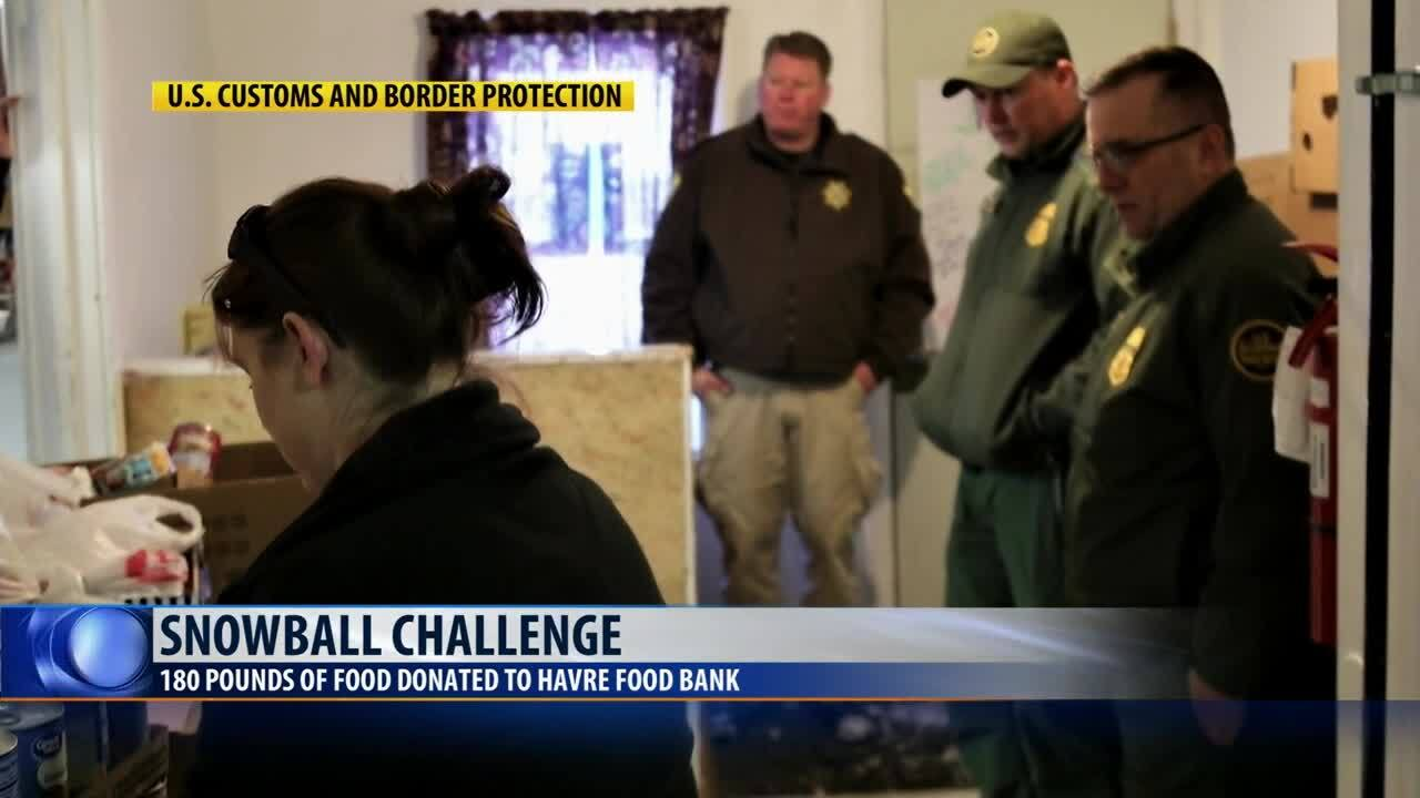 Snowball challenge helps Havre food bank