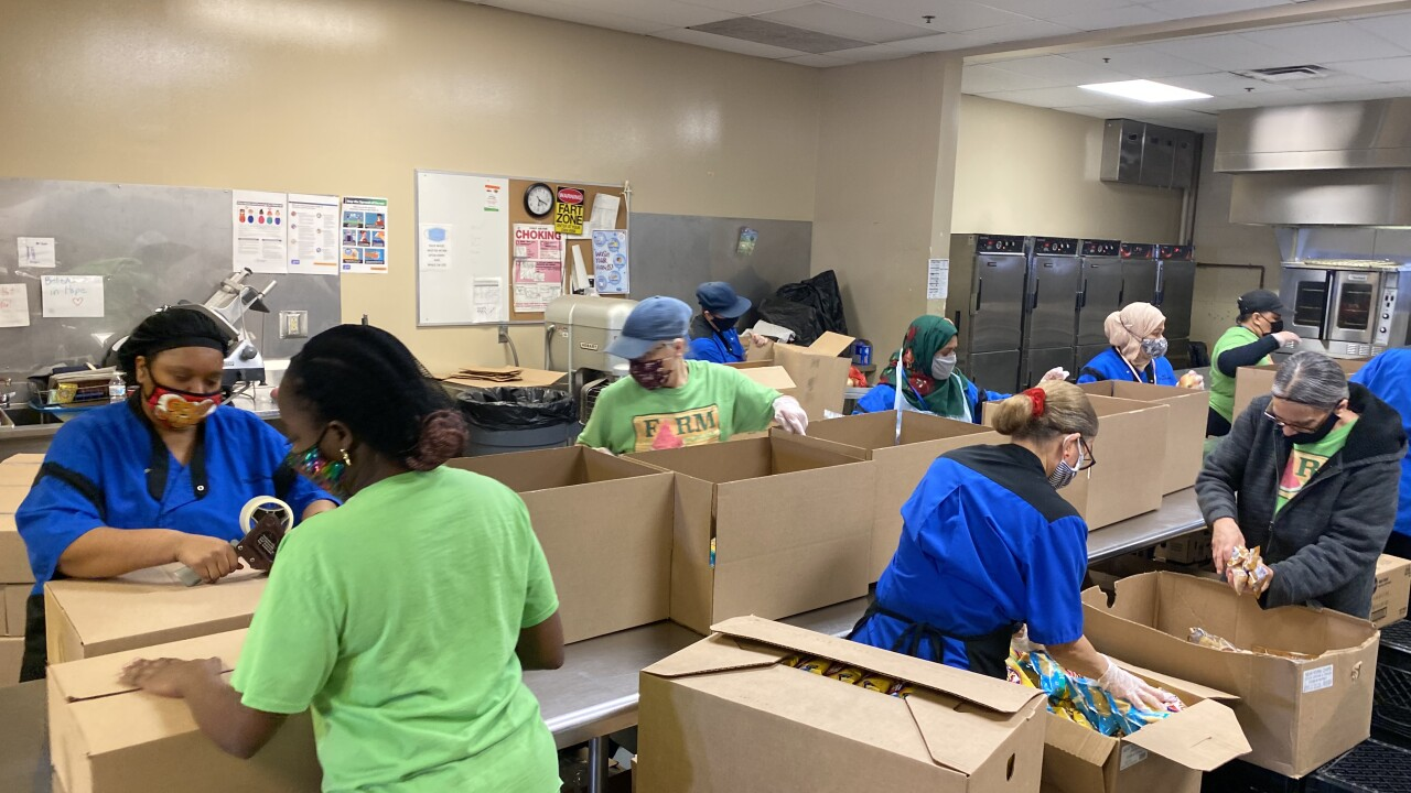 BPS workers package thousands of meals in just hours to make sure students are fed