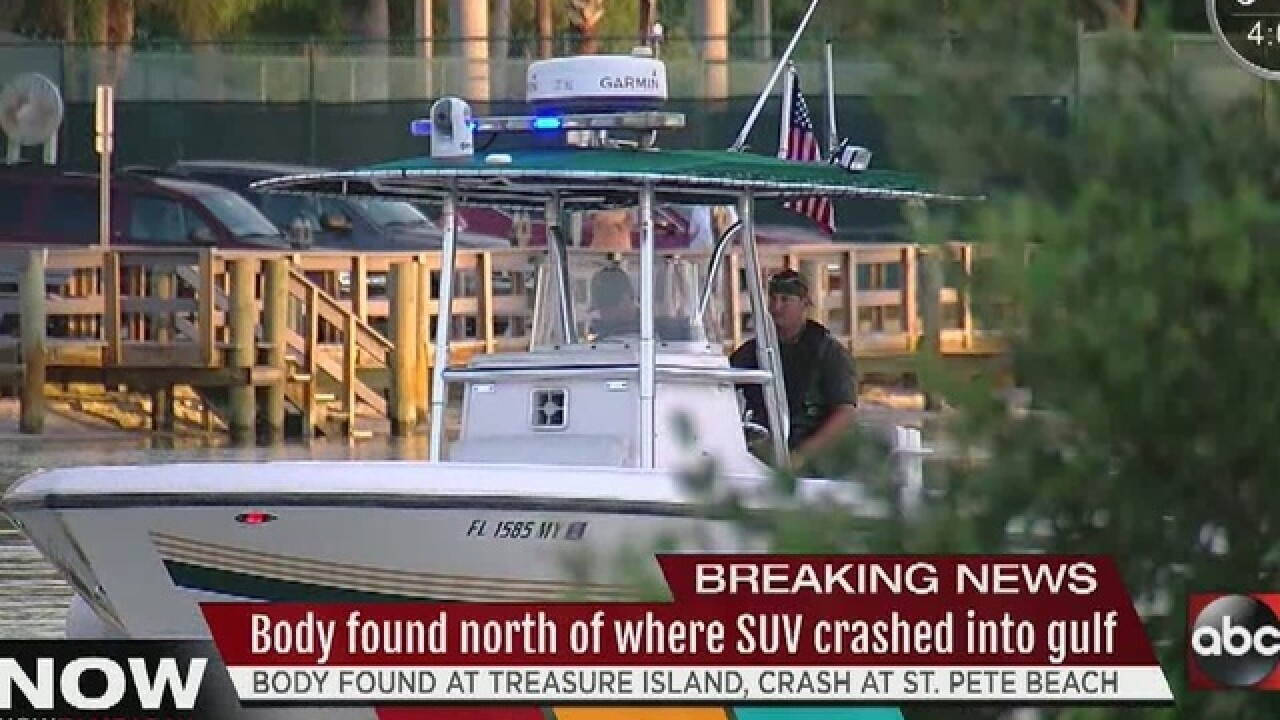 Body found in water off Treasure Island beach
