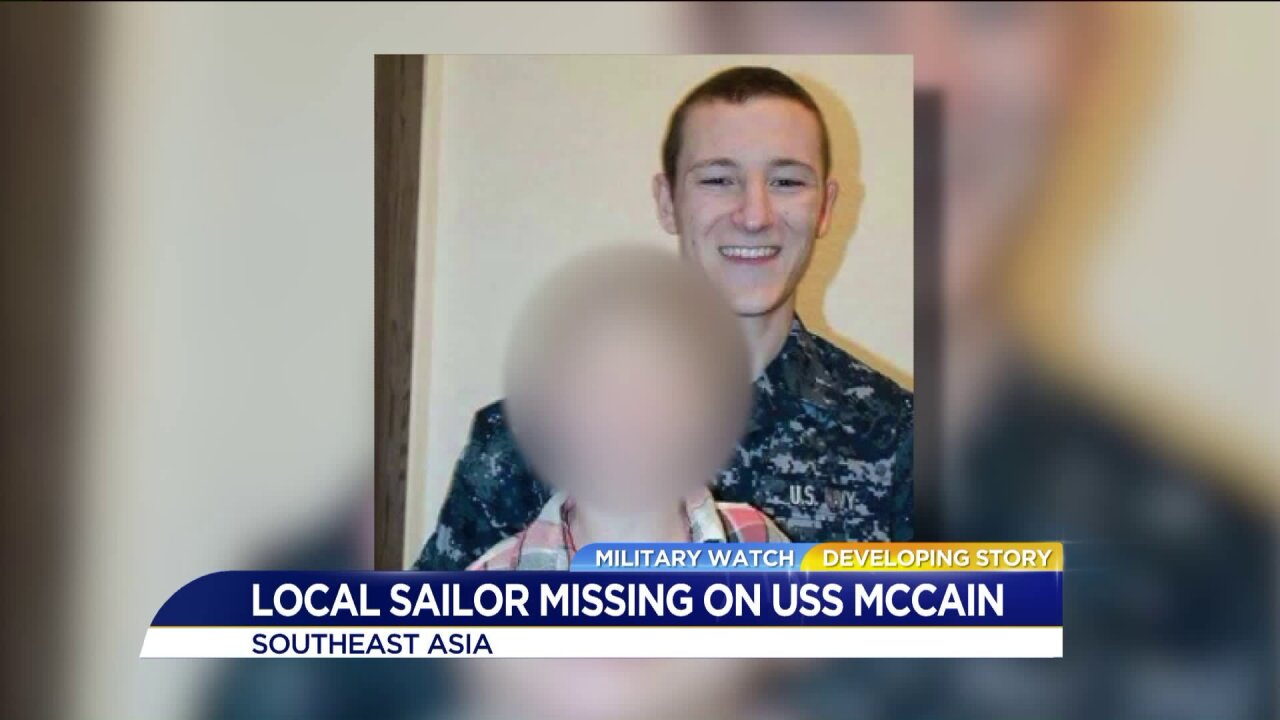 Missing USS John S. McCain Sailor once lived in Hampton Roads, momsays