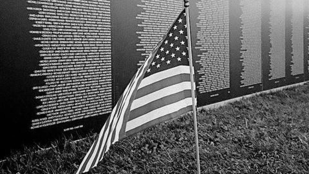 Vietnam Veterans Memorial Wall in Las Vegas through Sunday