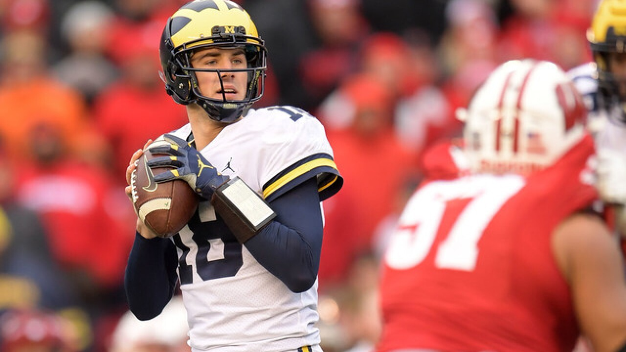 Harbaugh says Michigan QB Peters in concussion protocol