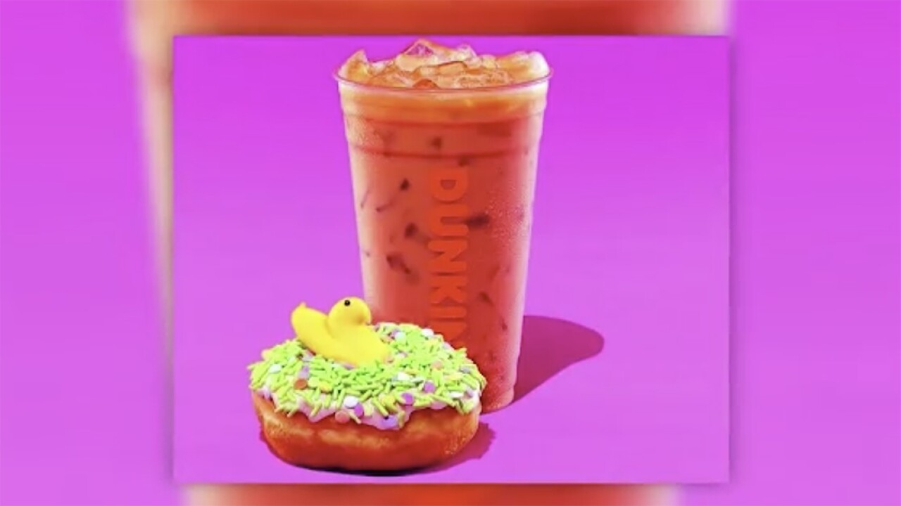 Dunkin' celebrates spring with Peeps-flavored coffee, doughnuts