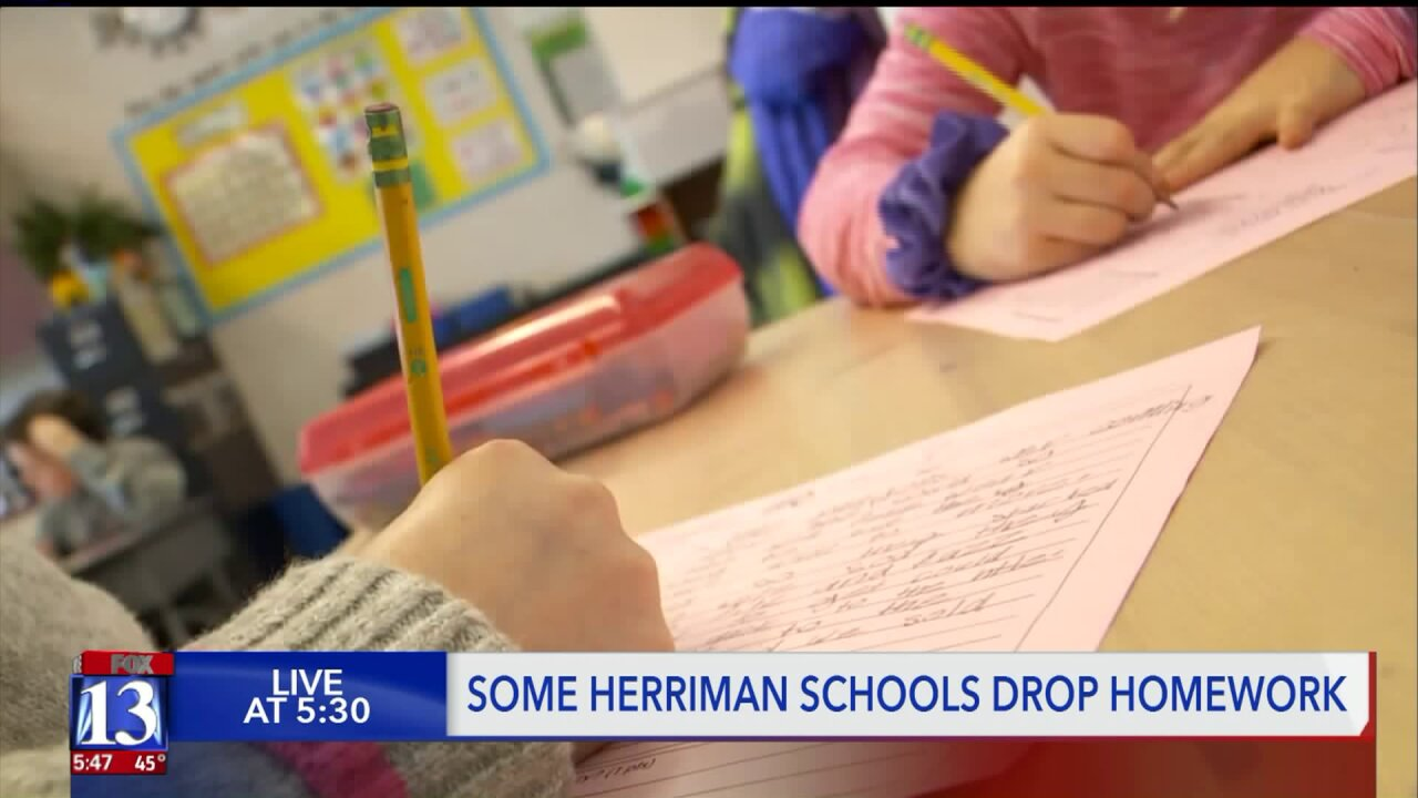 Some Herriman elementary schools no longer handing outhomework
